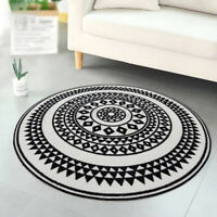 Mandala Flowers Round Carpet Floor Yoga Rugs Non-Slip Room Bath Door Mat 4 Size