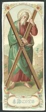 Holy card antique de San Andres Apostol santino andachtsbild image pieuse