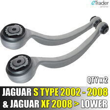 FOR JAGUAR S TYPE XJ XF FRONT SUSPENSION LOWER WISHBONES TRACK CONTROL ARMS PAIR