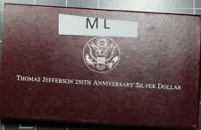 New listing 1993 Thomas Jefferson 250th Anniversary Commemorative Proof Silver Dollar Ml