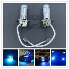 H3 CREE LED Fog Light Bulb Conversion Kit Super Bright Canbus 8000K Ice Blue 55W
