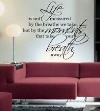 Adesivo da parete per la decorazione della casa, tema parole e frasi