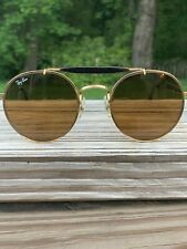 *Vintage* Bausch & Lomb Ray Ban Sunglasses Gold With Brown Bar