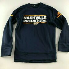 Adidas Nashville Predator Authentic NHL LS Player Crew Mens Size Small S D78611