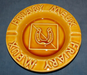 ASHTRAY COLLECTORS-GLAZED EARTHENWARE ASHTRAY - FRIARY MEUX BREWERY