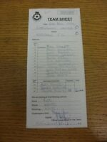 10/04/1999 The Football League Team Sheet: Rochdale v Rotherham United (Carbon C