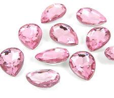 10 x Rosa Pera PEDRERÍA Cabujones 18mm Cristales Deco-den - VENDEDOR GB