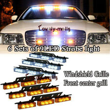 White Amber Yellow 54 LED Warning Strobe Lights Bars Deck Dash Windshield Grill