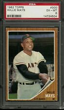 1962 TOPPS #300 WILLIE MAYS PSA 6 EX-MT SAN FRANCISCO GIANTS HOF MVP BASEBALL