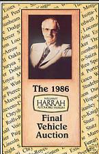The 1986 Harrah Automobile Collection Final Auction