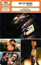 FICHE CINEMA : OUT OF ORDER - Soutendijk,George,Schenkel 1984