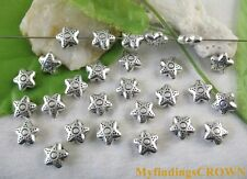 free ship 300 pieces Antique silver star spacer 6x3mm #3622