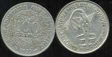 ETATS DE L'AFRIQUE DE L'OUEST  100 francs  1975   ( bis )