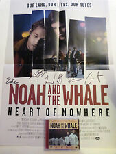 ★PERSONALLY SIGNED/AUTOGRAPHED NOAH AND THE WHALE POSTER + HEART OF NOWHERE CD