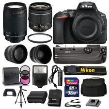 Nikon D5600 DSLR Camera 4 Lens Kit: 18-55mm VR +70-300 +Battery Grip Great Value
