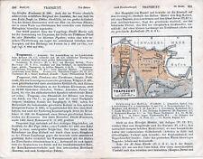 TR Trabzon Trapezunt  1909 orig. Stadtplan im Text + Reisef. (3 S.) Meydan Serai