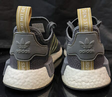 Adidas boost Sz 7 wmns or 6 mens Gold Nmd woven Mesh Grey og