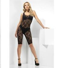 Lace Unitard - Black Ladies Fancy Dress Accessory Raunchy Sleeveless Adult