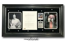 Carrie Fisher Owned Star Wars New Hope Script Page Framed Estate COA Photo #d100