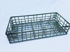 Vintage Green Rubber Coated Milk Bottle Carrier Rack Farmhouse Displ 00004000 ay Basket