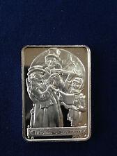 1974 Hamilton Mint Christmas Carolers HAM-94 Serial #0520 Silver Art Bar P1294