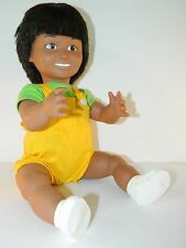 1988 Lakeshore Learning Ethnic Hispanic Boy Doll Yellow Overall Green T-Shirt