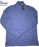 NWT S-2XL MEN Polo Ralph Lauren 1/4 ZIP Long Sleeve Pullover Sweater Pony Logo