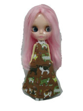 Costume outfit handcrafted halter long dress for Blythe Basaak doll 10-11