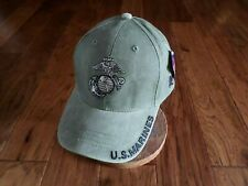 U.S Marine Corps Ega Hat Od Green Usmc Licensed ball Cap