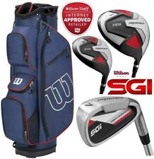 Wilson Prostaff SGI Mens Steel Complete Golf Club Set & Cart Bag New 2020
