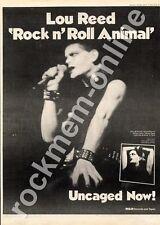 Lou Reed Rock n' Roll Animal APLI 0472 MM4 LP Advert 1974