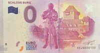 BILLET 0  EURO SCHLOSS BURG  3  ALLEMAGNE  2017  NUMERO 100