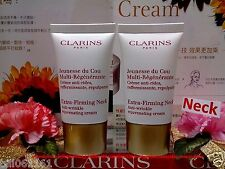 """2X Clarins Extra Firming Neck Anti Wrinkle Cream ◆15MLX2◆ NEW SEALED POST FREE""""!"""