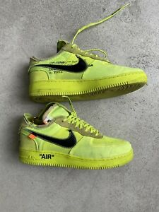 nike air force 1 off white, VOLT, 46 / US12