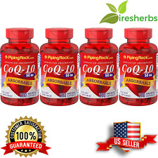 ABSORBABLE COQ10 50MG REDUCE CARDIAC RISK HEART BLOOD AID SUPPLEMENT 800 CAPS