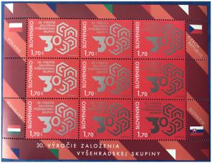 2021 Slowakei SLOVAKIA Joint Issue Visegrad Group 30 years Vysehrad