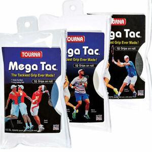 TOURNA Mega Tac Overgrip 10 Pack, Black Blue White