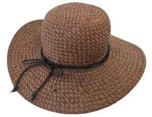 Unique Women Summer Wide Brim Handmade Straw Hat