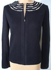 NWT ST. JOHN Knits Black Santana Crystal Mezzo Jacket Blazer sz 2 $1590