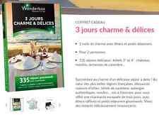 E-Billet Wonderbox ''3 jours charmes & délices'' e-billet 199 € aulieu 229€