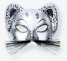 Silver Panther Eye Mask Tiger Eyemask Masquerade Ball Fancy Dress