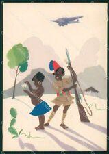 Aviazione Civile Fascismo Colonie Africa Olivetti FG cartolina XF7072
