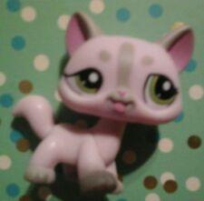 Littlest Pet Shop Pink Cat  Dr. Nurse No Hat Green Eyes#1326 Cute(G)
