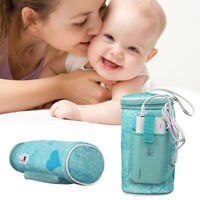 USB Baby Bottle Cup Warmer Heating Bag Travel Milk Water Thermostat Portable NEW