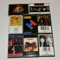 Heart Cassette Lot 8 Little Queen, Dog and Butterfly, Brigade, Bad Animals, Hits