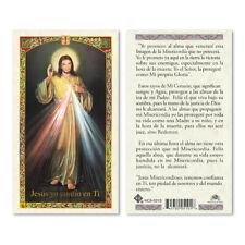 Divina Misericordia Spanish Holy Card Laminated Prayer Cards