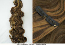 """Recurlable Synthetic Hair CLIP ON IN Extensions 7 pc - Body Wave 22"""""""