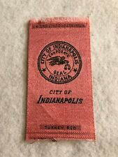 Vintage early 1900's Turkey Red Tobacco Blanket - City of Indianapolis (Red)