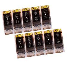 10x Gross Schwarz Drucker Patrone für Canon PIXMA kompatibel zu PGI-5BK mit CHIP