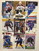 COLORADO AVALANCHE/QUEBEC NORDIQUES 100 Different Card Team Lot Roy  + 1990-2015